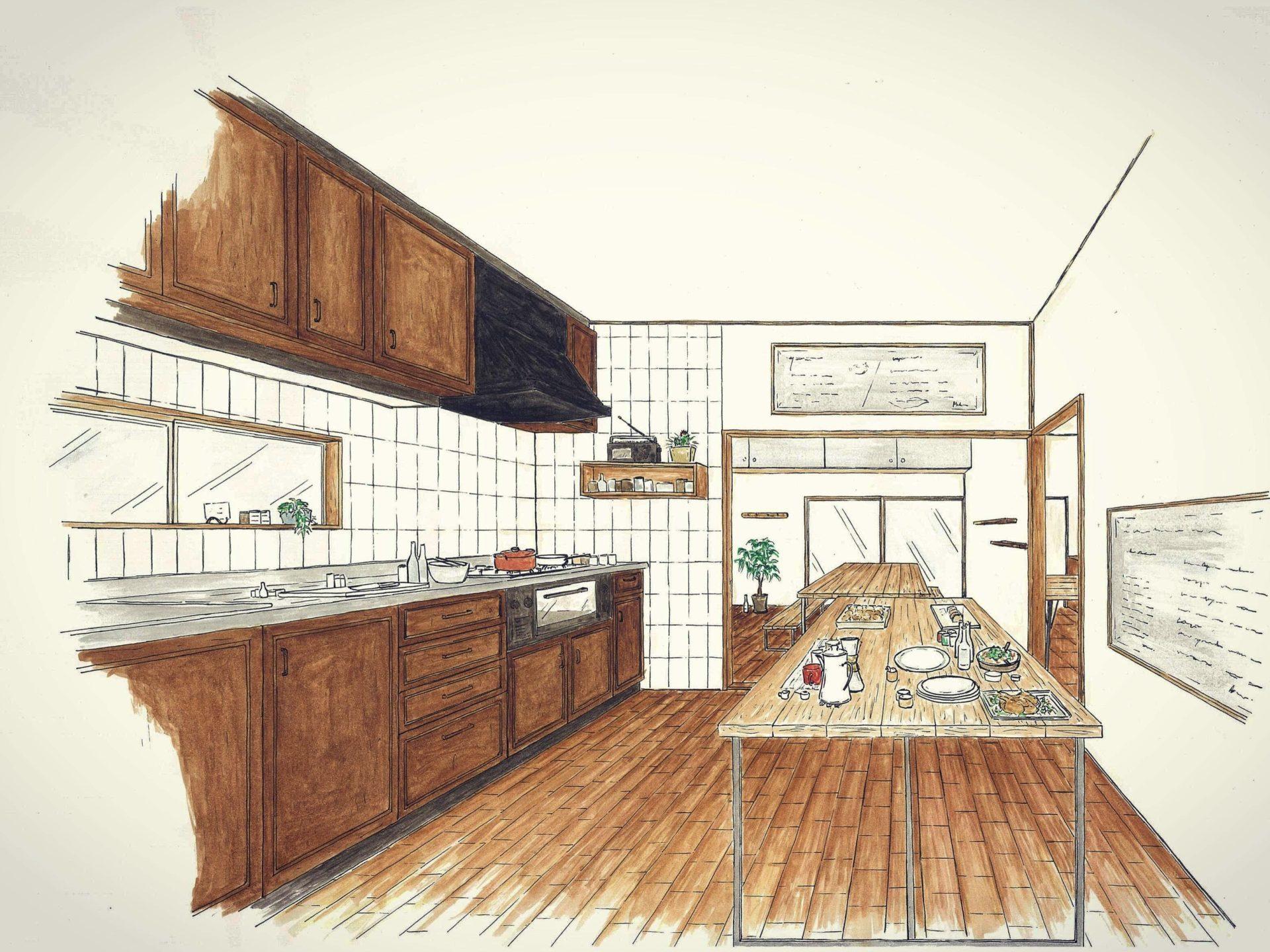 キッチン設計図