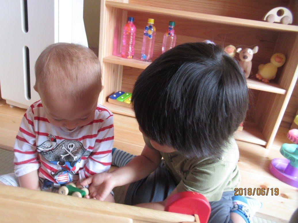 小さい子とお兄ちゃん