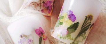 安らぎと癒しの花キャンドル