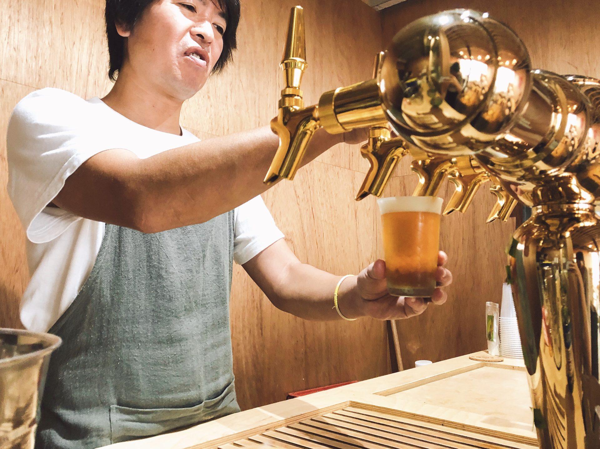 麦酒のビールサーバー