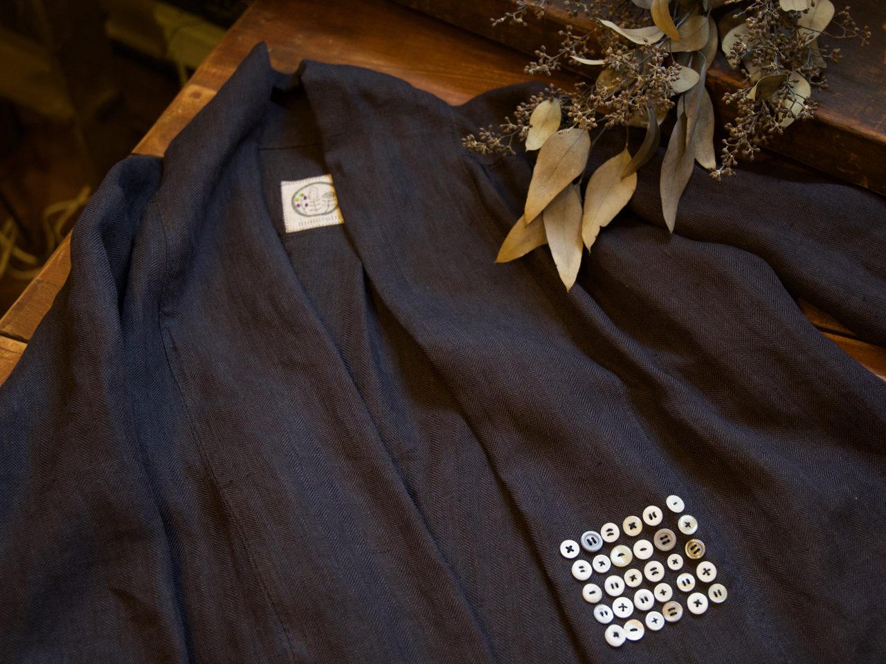 紺生地の服