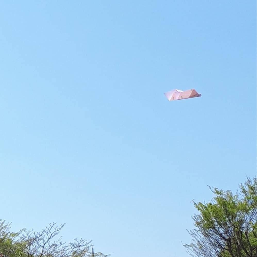 空を飛ぶ紙飛行機
