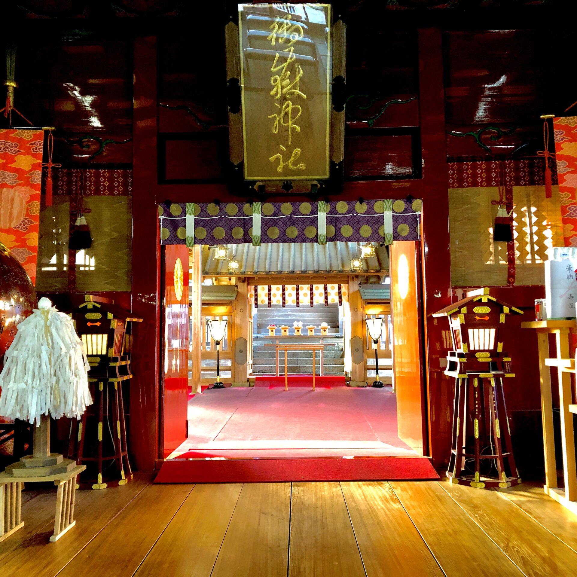 武蔵御嶽神社拝殿内